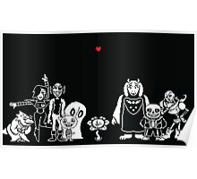 Undertale Character Spread Poster