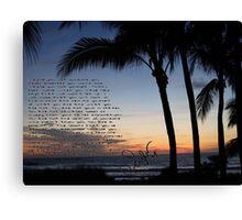 beach sunset clean speech  Canvas Print