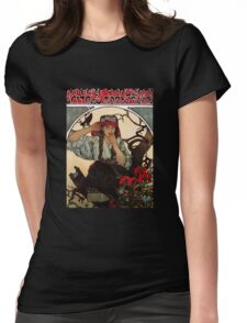 'Moravian Teachers Choir' by Alphonse Mucha (Reproduction) Womens Fitted T-Shirt