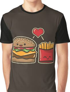 Burger and Fries Graphic T-Shirt