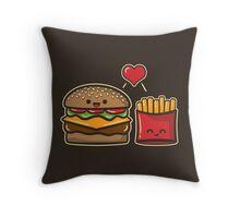 Burger and Fries Throw Pillow
