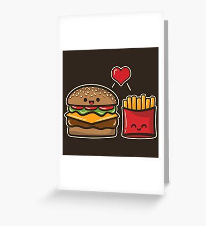Burger and Fries Greeting Card