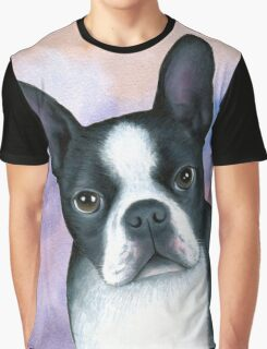 Dog 128 Boston Terrier Graphic T-Shirt