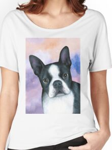 Dog 128 Boston Terrier Women's Relaxed Fit T-Shirt
