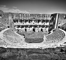 Aspendos in Black and White by Kadwell