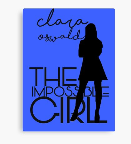 The Impossible Girl- Clara Oswald Canvas Print