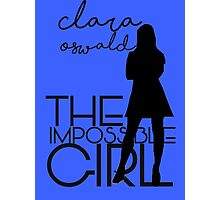 The Impossible Girl- Clara Oswald Photographic Print