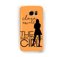 The Impossible Girl- Clara Oswald Samsung Galaxy Case/Skin