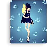 Blue Flame/Fire Fairy Drawing - (Designs4You) Canvas Print