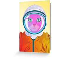 Astro cat Greeting Card