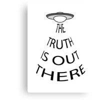 The Truth is Out There (White) Canvas Print