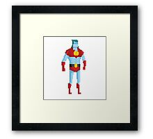 Captain Planet in Bits Framed Print