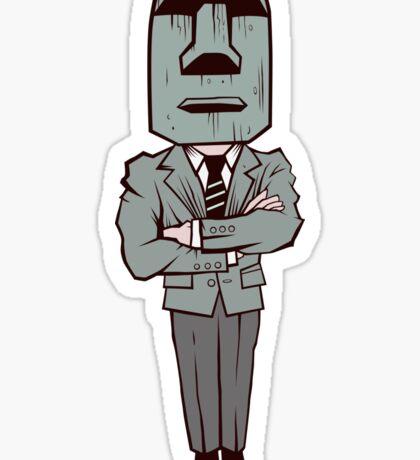 Poker Face Sticker