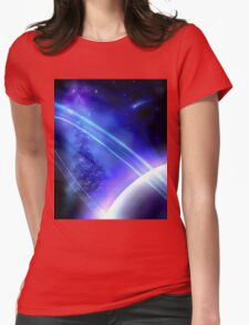 Purple Planet Womens Fitted T-Shirt