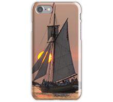 Sunset sailing on Lake Michigan iPhone Case/Skin