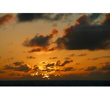 Sunset in the Atlantic Ocean on November 7th 2013 Photographic Print