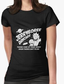 Rick and Morty Inspired Jerryboree Womens Fitted T-Shirt