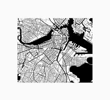 Boston Map - Black Inverted Unisex T-Shirt