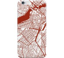 Boston Map - Dark Red Inverted iPhone Case/Skin