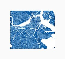 Boston Map - Deep Blue Unisex T-Shirt