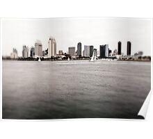 San Diego downtown skyline Poster