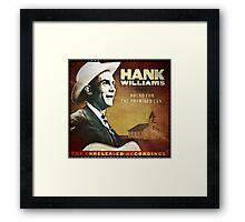 Hank Williams  Sr. Album Framed Print