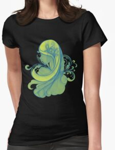 Blue and Yellow Glamor Girl Drawing T-Shirt