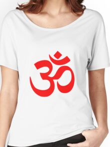 ॐ Om Shanti Om Symbol Hinduism Yoga Namaste Indian Peace Aum Namah Shivaya Women's Relaxed Fit T-Shirt