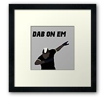 Pogba - Dab on Em Celebration minimalist Framed Print
