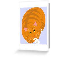 Big Orange Cat Greeting Card