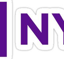 NYU logo Sticker