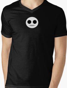 Cartoon Skull  Mens V-Neck T-Shirt