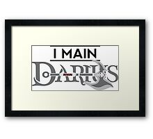 I Main Darius Framed Print