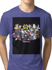 Undertale - All characters Tri-blend T-Shirt