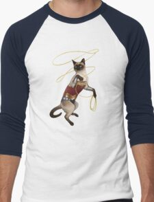 Wonder Cat Men's Baseball ¾ T-Shirt