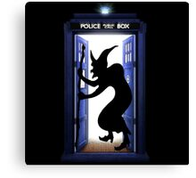 witch in the tardis halowen Canvas Print