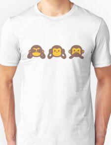 3 Wise Monkey Unisex T-Shirt