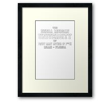Debra Morgan UniversityFunny TV Show Framed Print