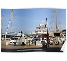Saint-Tropez, France. Yacht club and Marina  Poster