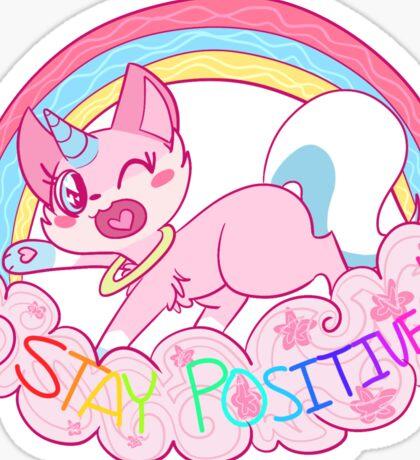 Stay Positive! UniKitty Sticker