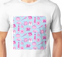 Kimono Girl - Light Blue & Pink Unisex T-Shirt