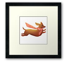 Sausage dog! Framed Print