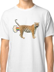 Giant Realistic Flying Tiger Classic T-Shirt