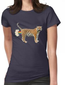 Giant Realistic Flying Tiger Womens Fitted T-Shirt