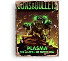 Guns and Bullets (Plasma) Canvas Print