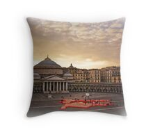 "Naples, Piazza del Plebiscito with ""Europe"" (2) Throw Pillow"