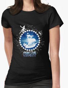 Paint the Night - Second Star to the Right Womens Fitted T-Shirt