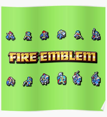 GBA LORDS   Fire Emblem Poster