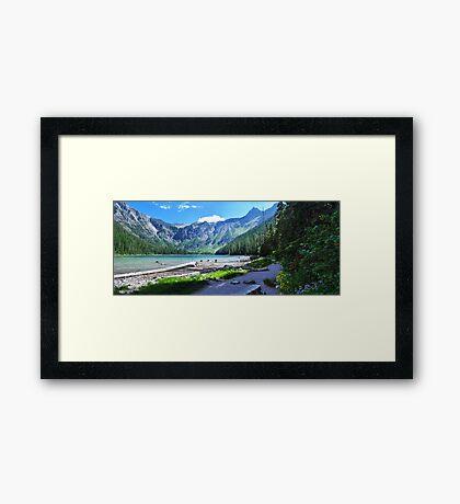 Avalanche Lake - Glacier National Park Framed Print
