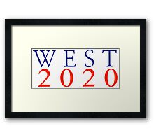 WEST2020 Framed Print